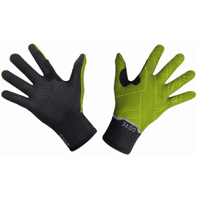 GORE WEAR Gore-Tex Infinium Stretch Mid Gloves, black/neon yellow